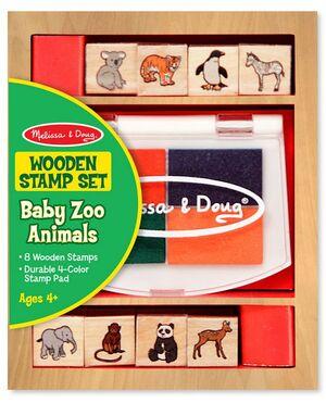 M&D - Juego de sellos de animales de Zoológico Bebés
