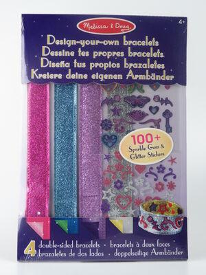 M&D Diseña tus brazaletes - 4 brazaletes y 100 pegatinas para decorar