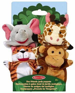 M&D Marionetas de mano - 4 animales jungla