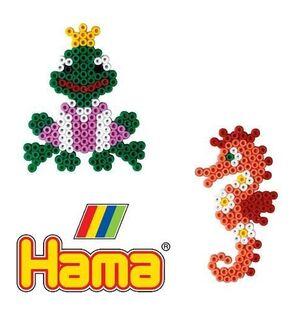 Hama - caja regalo mundo pequeño Caballitos de Mar y Ranas