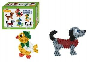 Hama - caja regalo mundo pequeño Perro y Pajaro