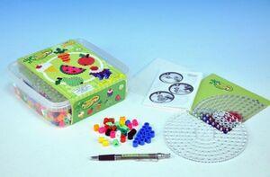 Hama- set maxi beads y pegboards con caja olastico
