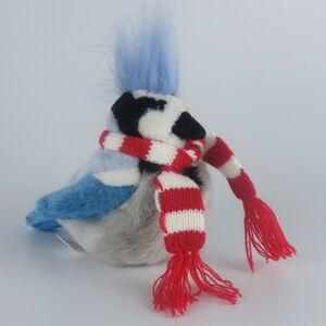 WR - Peluche pájaro azul con bufanda