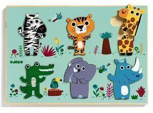 Djeco - Puzzle encajable Coucou jungla