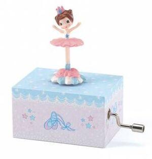 Djeco - Caja de música pequeña: Bailarina (música: 'El Danubio azul' de Johann Strauss)
