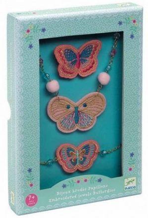 Djeco - Joyas bordadas: Mariposas