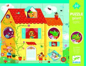 Djeco - Puzzle gigante optic La casa (20 piezas)