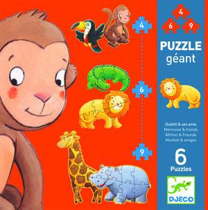 Djeco - Puzzle Ouistiti y sus amigos
