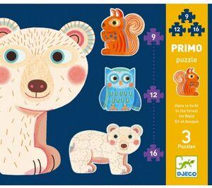 Djeco - 3 puzzles evolutivos 9-12-16 piezas
