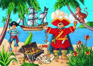 Djeco - Puzzle silueta El pirata