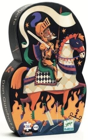 Djeco - Puzzle silueta Don Quijote 36 piezas