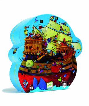 Djeco - Puzzle silueta El barco de Barbarroja (54 piezas)
