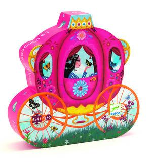 Djeco - Puzzle silueta El carroza de Elisa (54 piezas)