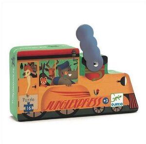 Djeco - puzzle silueta La locomotora.  16pzas