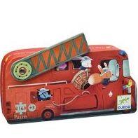 Djeco - Puzzle Silueta El camión de bomberos