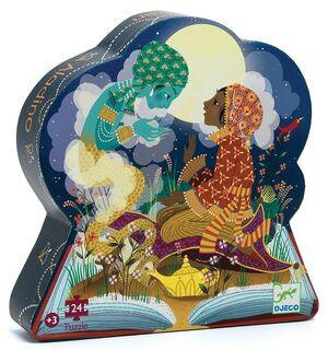 Djeco - Puzzle silueta Aladín (24 piezas)