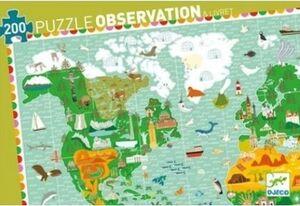 Puzzle observación La vuelta al mundo 200 piezas