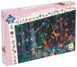 Djeco - Puzzle observación Bosque encantado -100 pzas.-