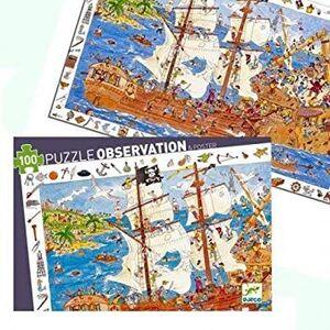 Djeco - Puzzle observación Los Piratas