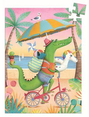 Djeco - Mini Puzzle Coco Beach.  60pzas