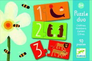 Djeco - Puzzle duo números
