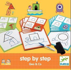 Djeco - Estudio stepbystep aprence a dibujar Geo&Co