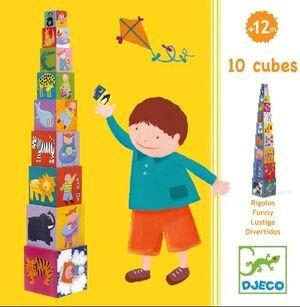 Djeco - 10 CUBOS DIVERSIÓN