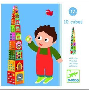 Djeco - 10 cubos Vehículos
