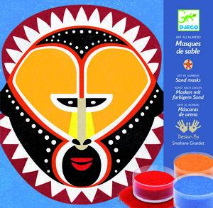 Djeco - Máscaras de arena Arte por número