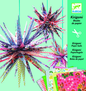 Djeco - Kirigami Bolas de papel