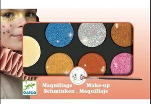 Estuche maquillaje 6 colores naranja efecto pincel