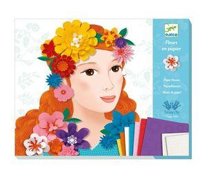 Djeco - Flores de papel Muchachas con flores