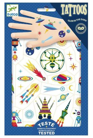 Djeco - Tatuajes El espacio