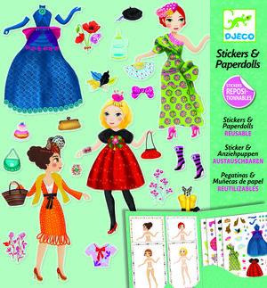 Djeco - Pegatinas & Muñecas de papel