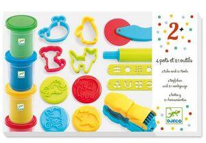 Djeco - Pasta moldear Estuche con accesorios