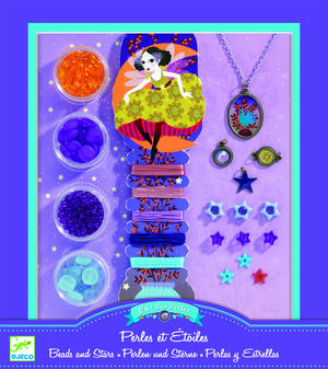 Djeco - Perlas y Estrellas - kit para hacer collares