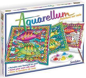 Sentosphère Aquarellum Pintura sobre seda Pez