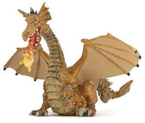 Papo - Dragón Dorado con Fuego