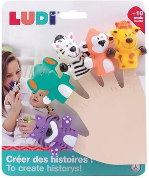 Ludi - Marionetas dedo Sabana