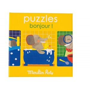 Moulin Roty - 3 Puzzles Bonjour (36 piezas) Popipop