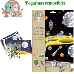 Crea historias - Viaje a la Luna (pegatinas)
