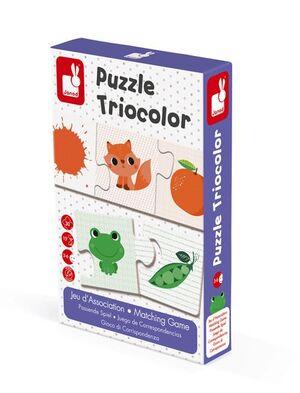 Janod - juego de correspondencias Puzzle tricolor