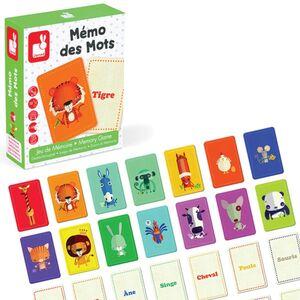 Janod - Mémo des mots (juego de memoria en francés)