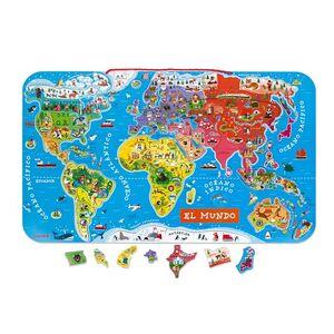 Janod - Puzzle mundo magnetico