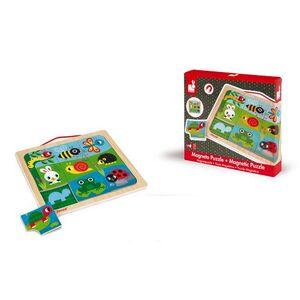 Janod - Puzle Magnético Jardín Feliz 9 piezas (madera)