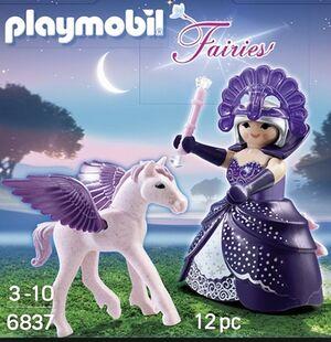 Playmobil - reina morada con pegaso