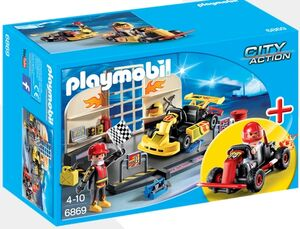 Playmobil - taller coches karts
