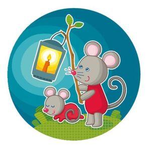 Lámpara de enchufe El ratoncito, vigilante nocturno
