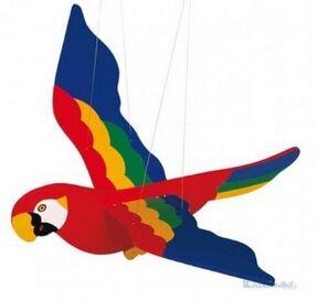 Goki - Móvil oscillante papagayo 50cm