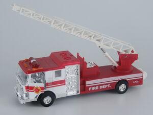Die-cast Camión de bomberos metálico, retrofricción, luz, sonidos, exp.